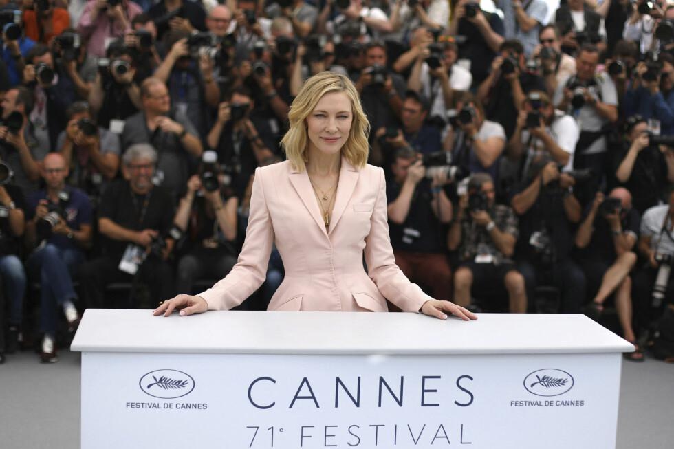 Cate Blanchett på filmfestivalen i Cannes i 2018. Foto: NTB Scanpix