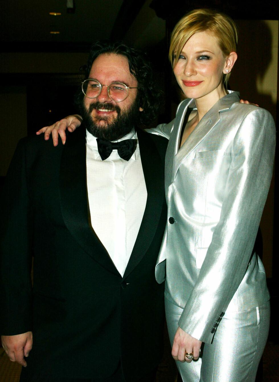 """Cate Blanchett og Peter Jackson på """"Directors Guild Awards"""" i 2003. Foto: NTB Scanpix"""