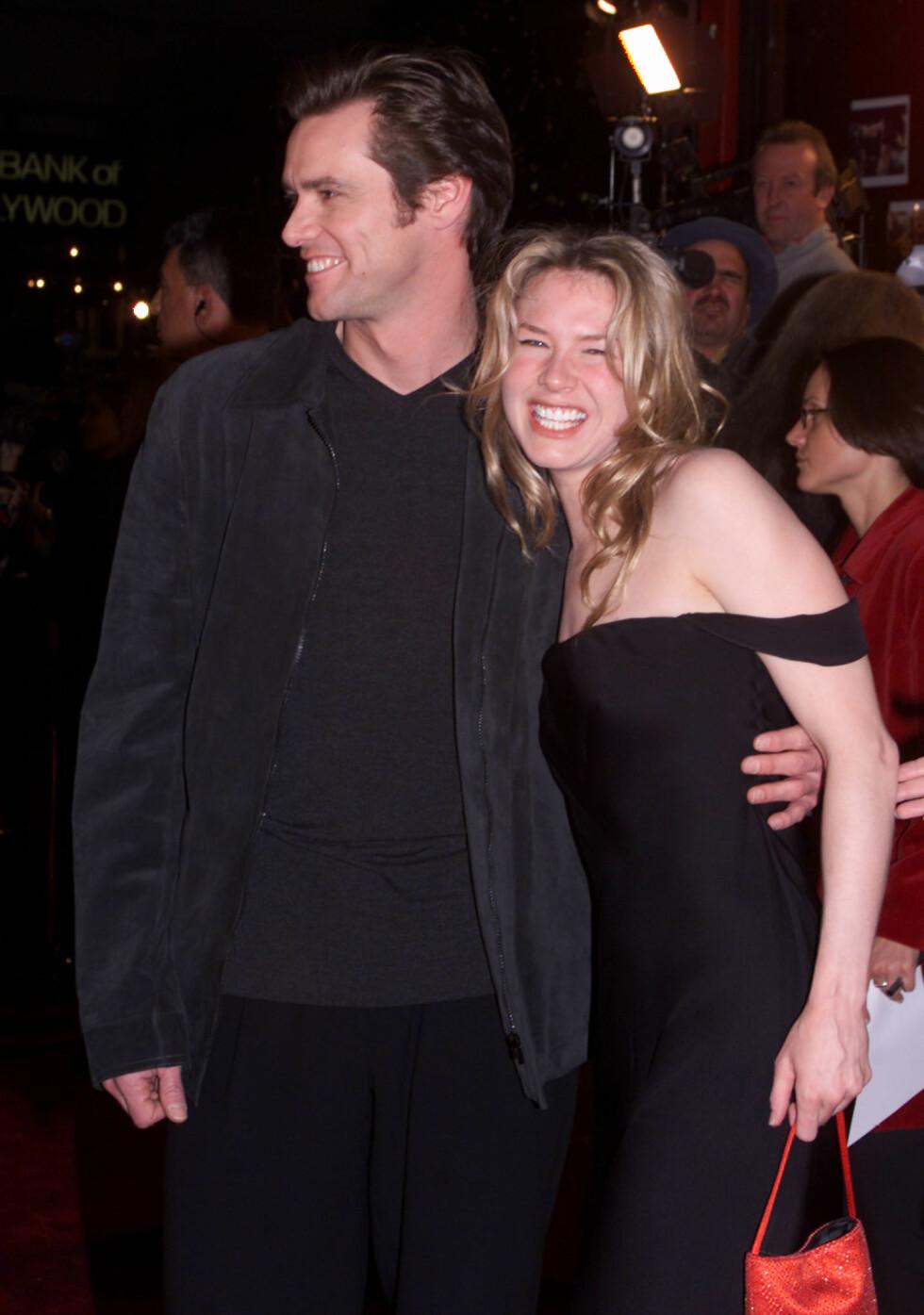 Renee Zellweger sammen med Jim Carrey i 1999. Foto: NTB Scanpix