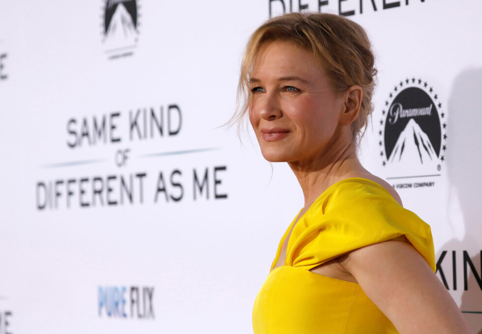 "Zellweger på premieren av filmen ""Same Kind of Different As Me"" i 2017. Foto: NTB Scanpix"