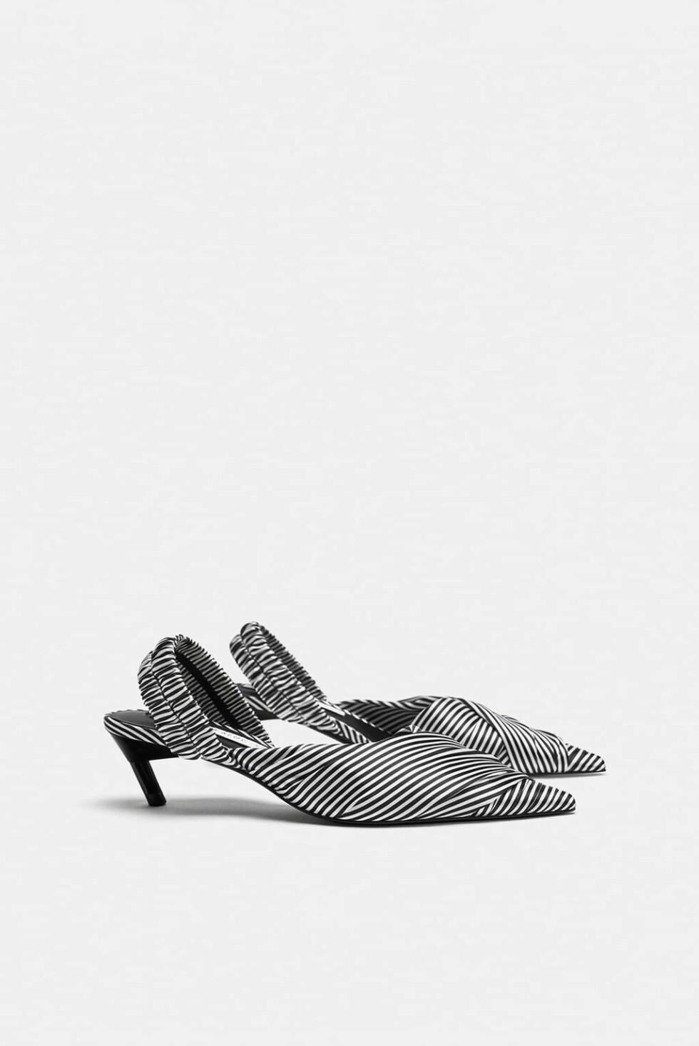 Sko med print fra Zara |250,-| https://www.zara.com/no/no/h%C3%B8yh%C3%A6lt-sko-i-stripet-stoff-med-%C3%A5pen-h%C3%A6l-p13250301.html?v1=6575209&v2=1177663