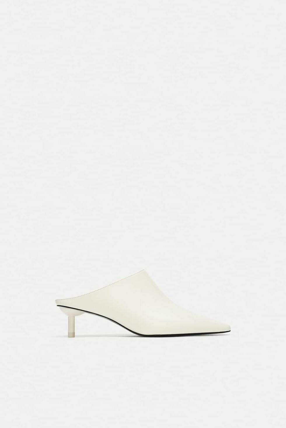 Hvite sko fra Zara |400,-| https://www.zara.com/no/no/h%C3%B8yh%C3%A6lt-sko-med-%C3%A5pen-h%C3%A6l-og-vriststykke-p17204301.html?v1=6449247&v2=1177663