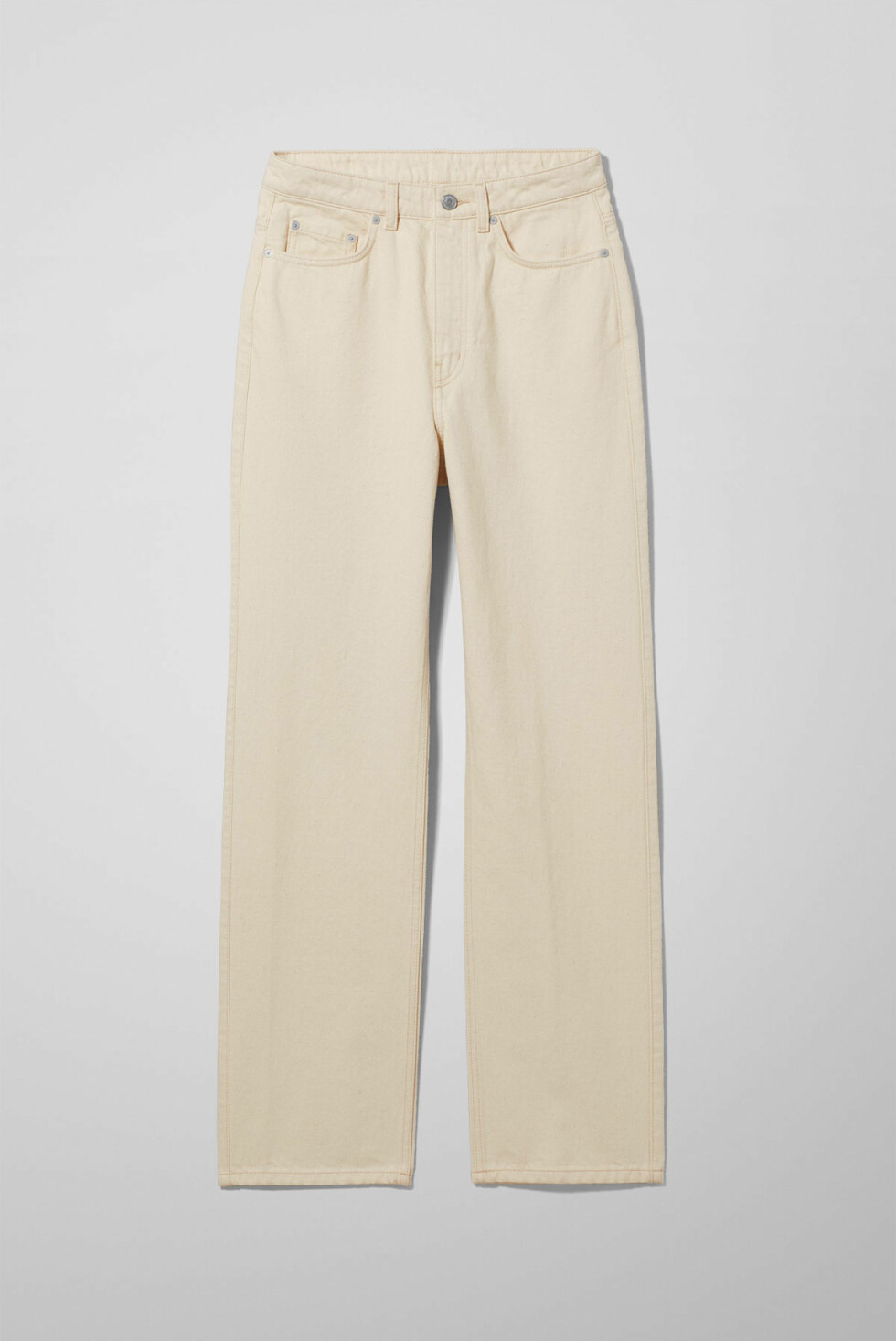 Bukse fra Weekday |500,-| https://www.weekday.com/en_sek/women/categories/new-arrivals/product.row-ecru-jeans-beige.0697777001.html
