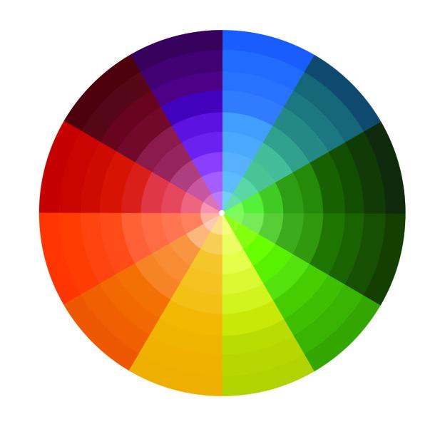 FARGEHJUL: Se hvor på fargehjulet din naturlige øyefarge befinner seg og velg øyeskyggefarge på motsatt side. Slik framhever du øyefargen din best mulig. FOTO: NTB scanpix