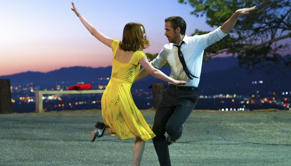 <strong>ROMANTIKK:</strong> «La La Land» er blant filmene som vil sette de romantiske følelsene i sving. FOTO: NTB Scanpix