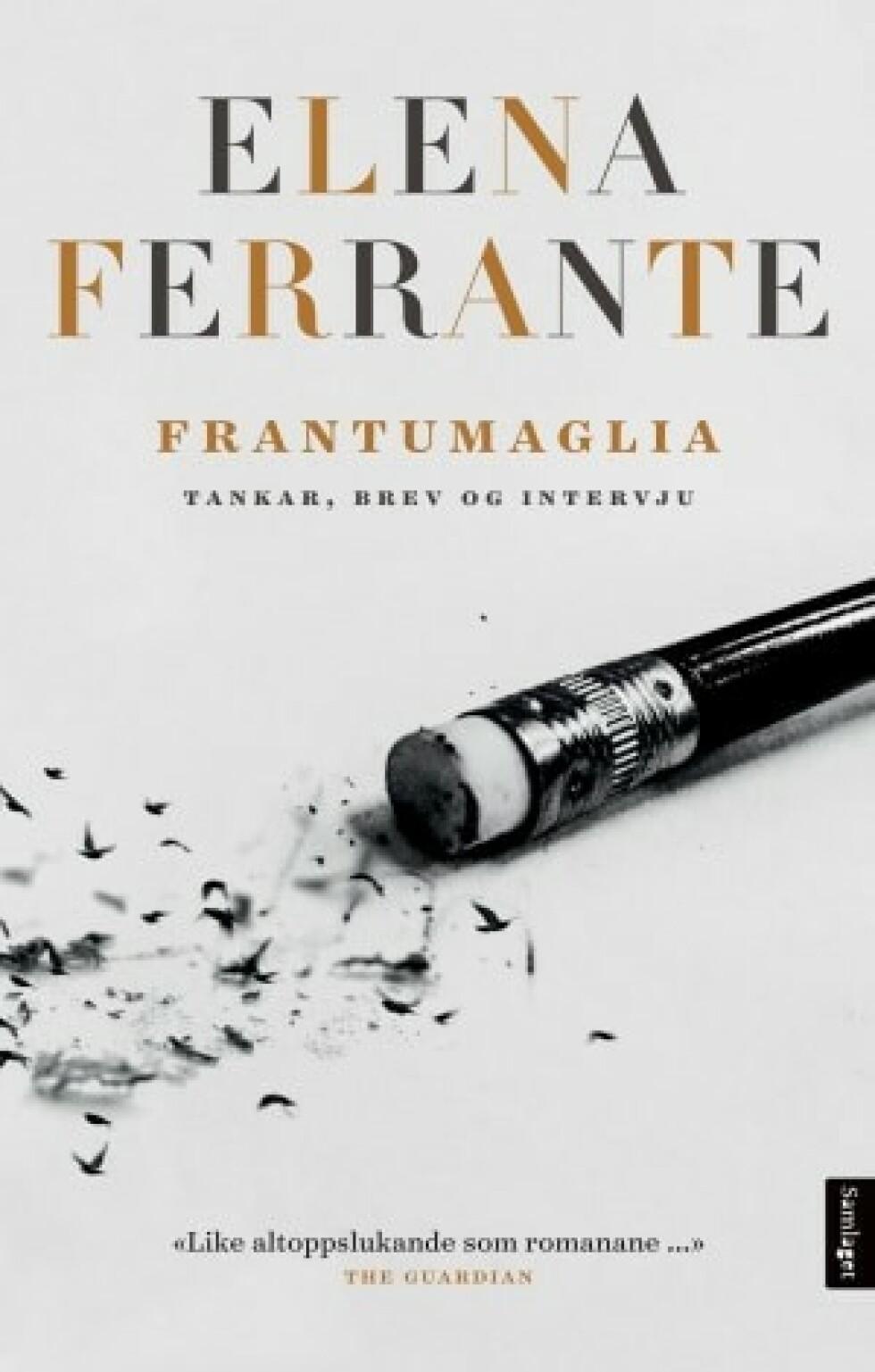 Elena Ferrante |Frantumaglia| https://www.ark.no/boker/Elena-Ferrante-Frantumaglia-9788252197174