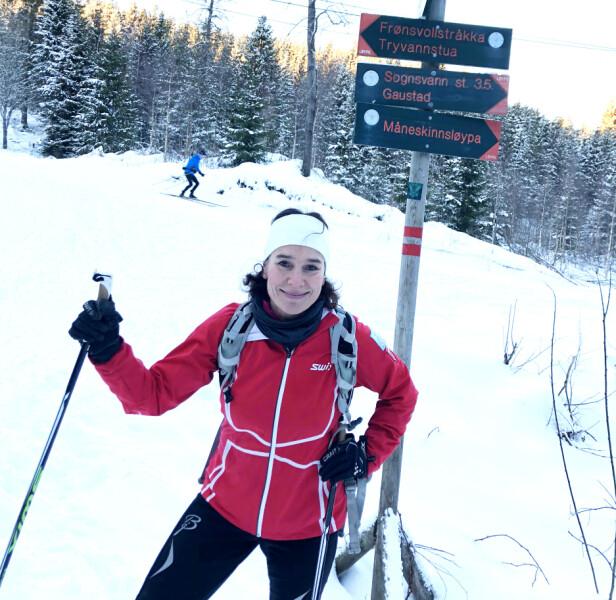 MÅNESKINNSLØYPA: Løypen som strekker seg på vestsiden av Sognsvann i Oslo, er en av favorittløypene til Kari. FOTO: Malini Gaare Bjørnstad // KK