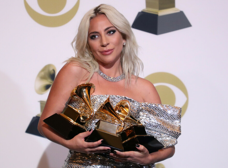 GRAMMY AWARDS: Lady Gaga vant flere priser under nattens utdeling. Foto: Scanpix
