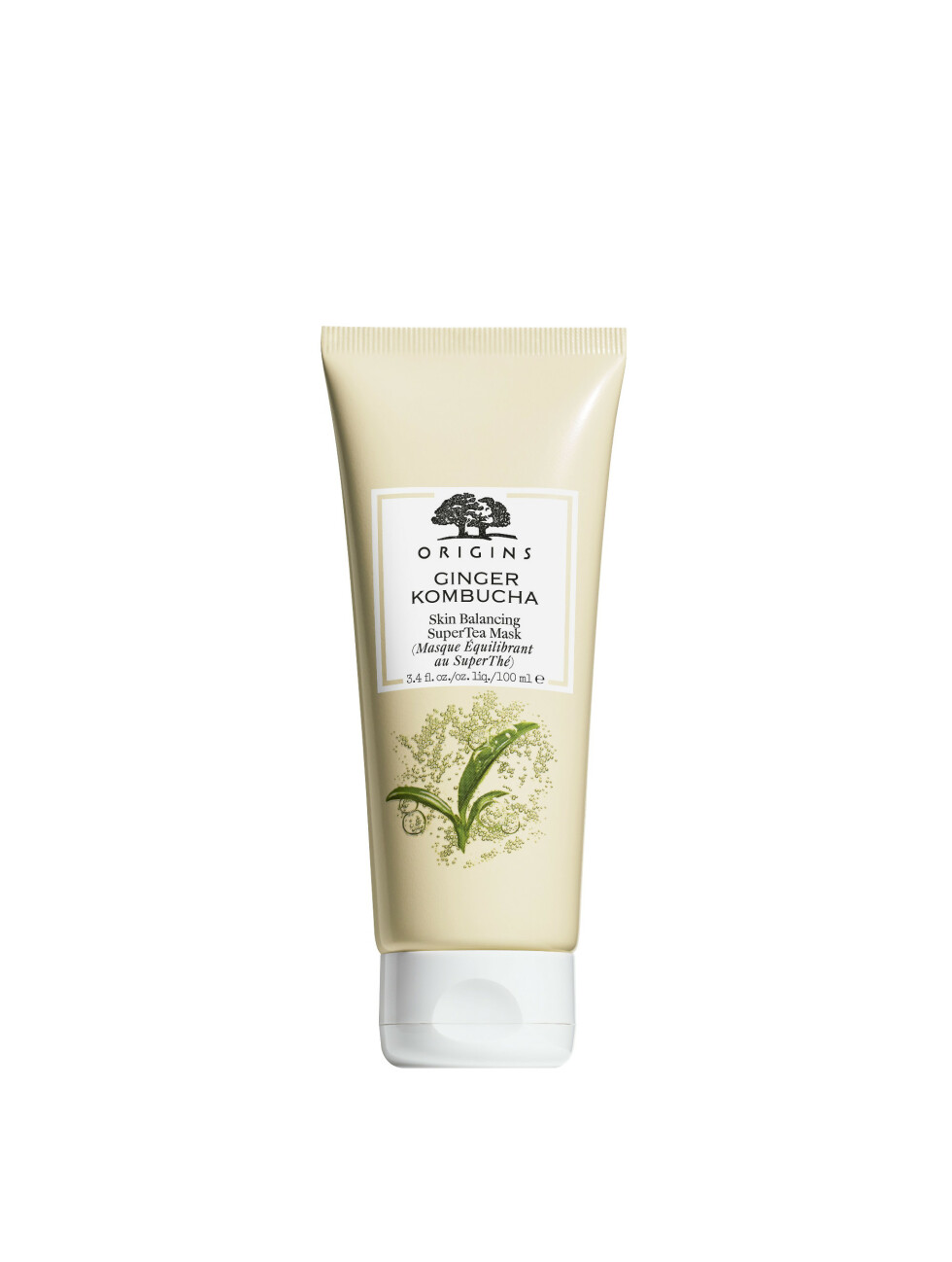 1. Renser porer og fjerner overflødig olje med ingefær og te (kr 225, Origins, Ginger Kombucha, Skin Balancing Super Tea Mask).
