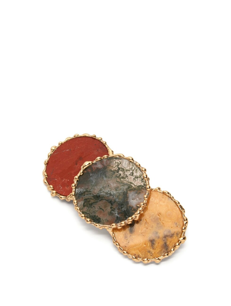 Fargerik spenne fra Rosantica by Michela Panero |1935,-| https://www.matchesfashion.com/intl/products/Rosantica-By-Michela-Panero-Wallace-agate-hair-clip-1271247