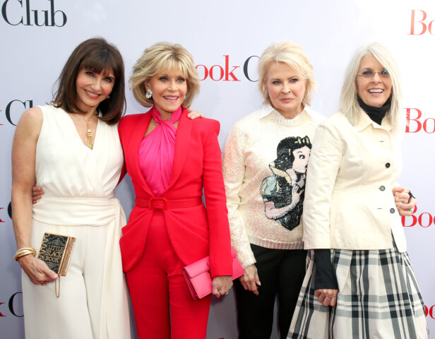 Mary Steenburgen, Jane Fonda, Candice Bergen og Diane Keaton. Foto: Scanpix