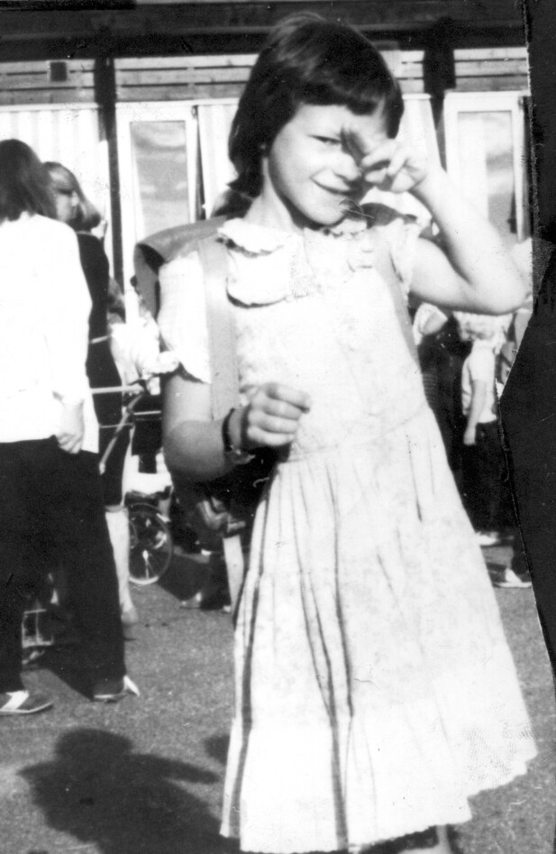 FØRSTE SKOLEDAG: Marianne Rugaas Knutsen hadde sin aller første skoledag bare noen uker før hun forsvant. FOTO: NTB Scanpix