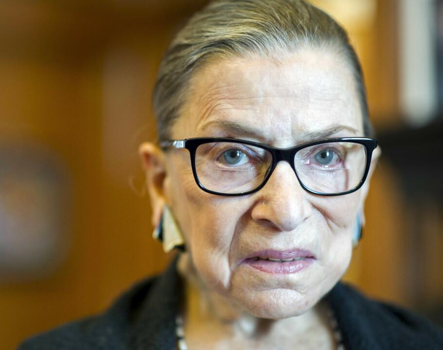 KNALLTØFF DAME: Amerikanske Ruth Bader Ginsburg har stått i bresjen for å endre det amerikanske lovverket som diskriminerer på bakgrunn av kjønn. Denne kampen begynte hun allerede på 50-tallet. FOTO: NTB Scanpix