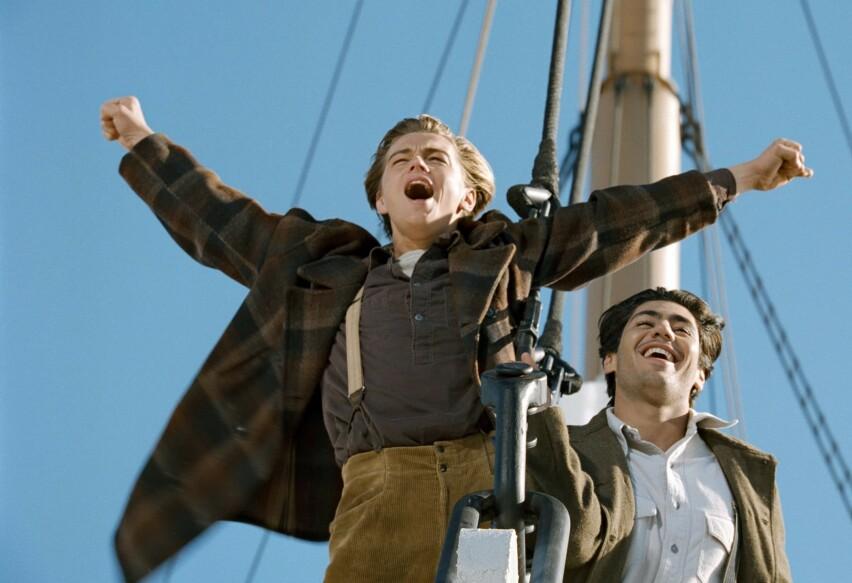 VAR SKEPTISK: Denne scenen er en av de aller mest minneverdige fra James Camerons «Titanic». Dét er også replikken som ble levert i den – men sistnevnte uteble nesten... FOTO: 20th Century Fox