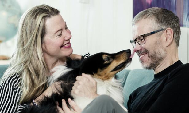 MIDTPUNKT: Shetland sheepdogen Sparky kom inn som nytt familiemedlem etter at Bjørn fikk diagnosen, og mestrer oppgaven om å få fokuset over på noe annet. FOTO: Astrid Waller