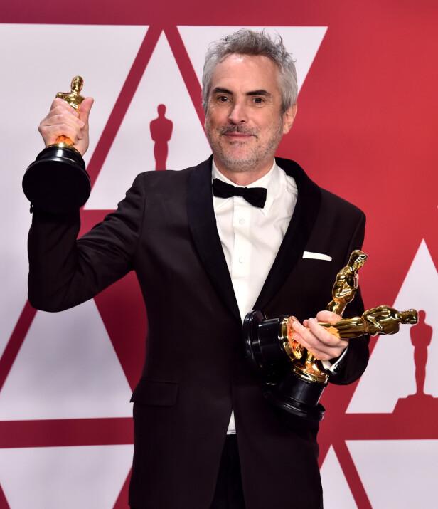 Roma-regissør Alfonso Cuaron vant også pris for beste utenlandske film og kinematografi. Foto: Scanpix