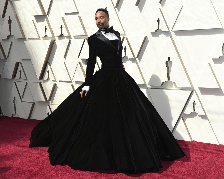 BILLY PORTER: Skuespilleren valgte å gå med kjole under årets Oscar-utdeling. Foto: Scanpix