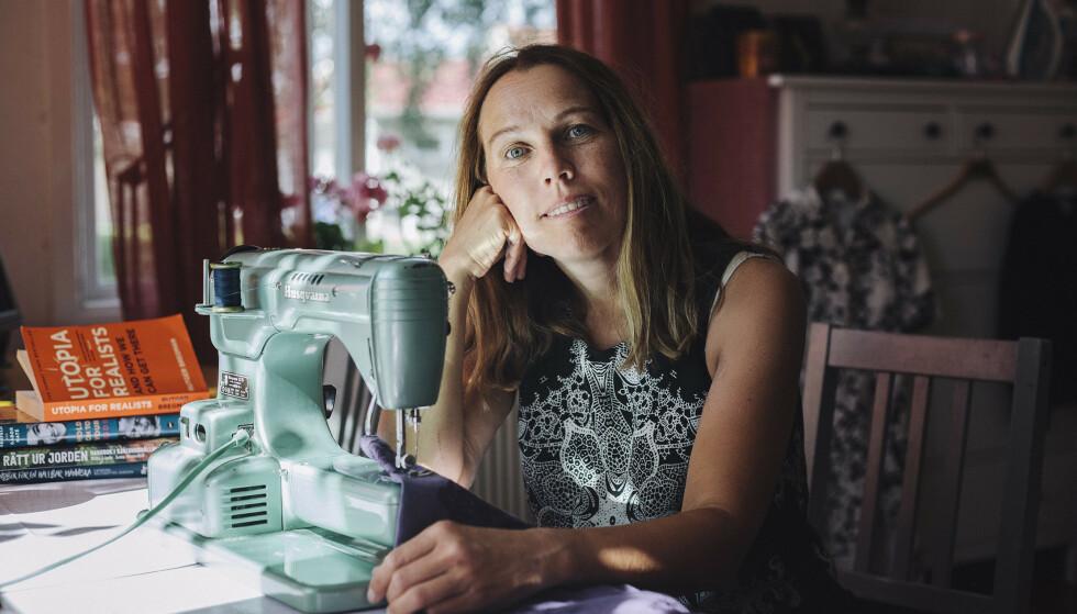 HOPPET AV HAMSTERHJULET: Da Åsa Axelsson ble sykemeldt bestemte hun seg for å gjøre et eksperiment; hvor mye kunne hun klare å kutte familiens kostnader på ett år? FOTO: Alexandra A. Ellis