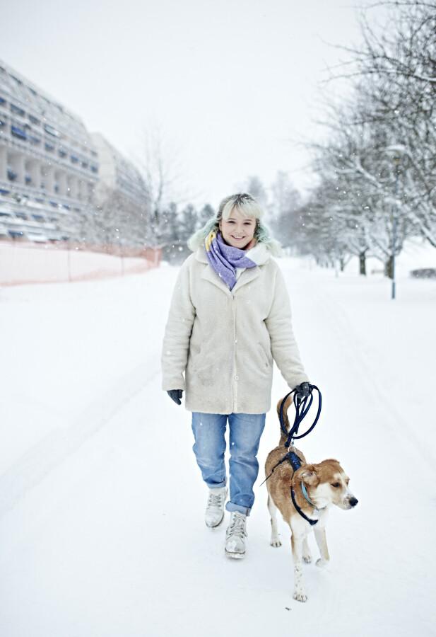 SER FREMOVER: Mathilde drømmer om å kunne leve et helt normalt liv med jobb, og at Vito kan være ved hennes side hele veien. FOTO: Geir Dokken