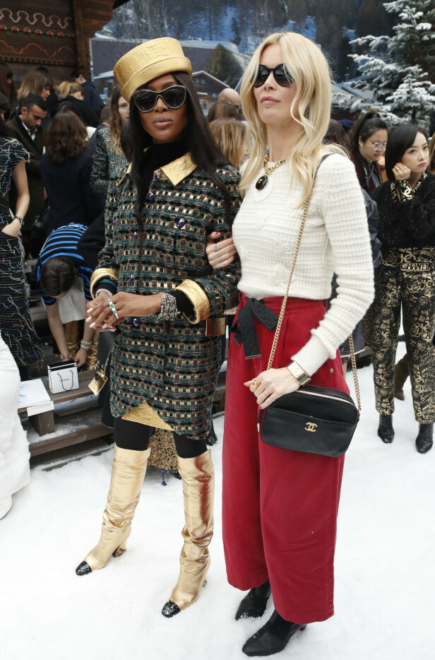 Naomi Campbell og Claudia Schiffer. Foto: Scanpix