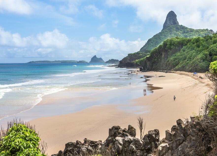 VERDENS FINESTE STRAND: Stranda som ligger øverst på listen befinner seg i Brasil. Foto: Scanpix