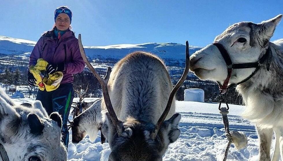 REINDRIFT: Maja er vokst opp i en reindriftsfamile. - Det er en livsstil, sier hun til KK. FOTO: Privat