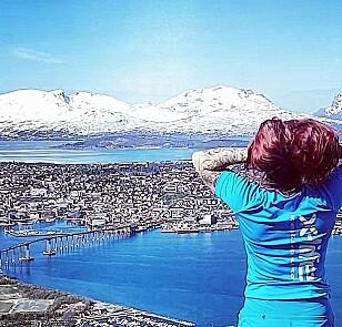 UT PÅ TUR: Ikke noe å si på utsikten fra Kløftbakken i Tromsø. FOTO: Privat.