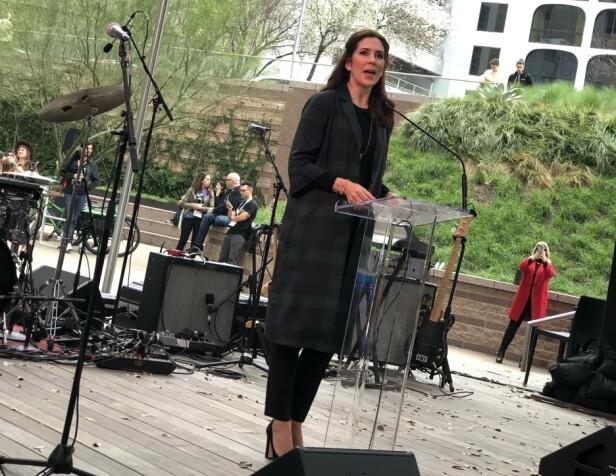 HYLLET SKANDINAVISK MUSIKK: Kronprinsesse Mary fortalte fra scenen at hun håper at de skandinaviske artistene som skal opptre på SXSW i Texas kan bidra til økt nordisk musikkeksport. FOTO: Malini Gaare Bjørnstad