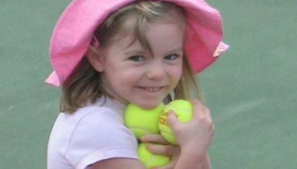 SPORLØST: Madeleine var kun 3 år gammel da hun forsvant sporløst fra sengen sin på familieferie i Portugal. Siden har ingen sett henne. FOTO: NTB Scanpix