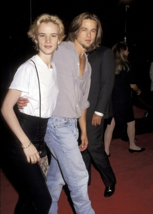 HVEM ER HVEM?: Neida, vi ser selvfølgelig forskjell på Juliette Lewis og Brad Pitt, men det er ingen tvil om at duoen var nokså like da de datet på 90-tallet. FOTO: Twitter