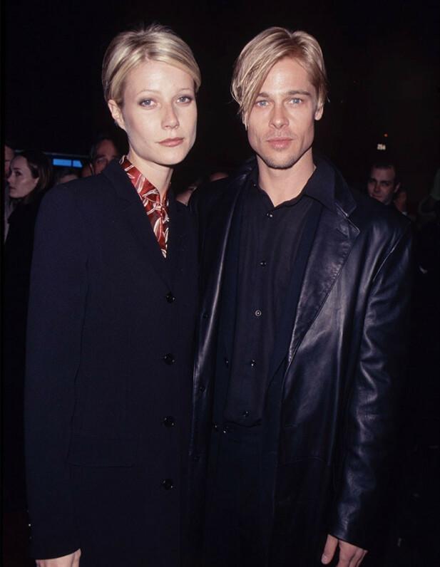 OPPSIKTSVEKKENDE: Kjærester eller tvillinger? Gwyneth Paltrow og Brad Pitt er nesten skremmende like her, synes vi... FOTO: Twitter
