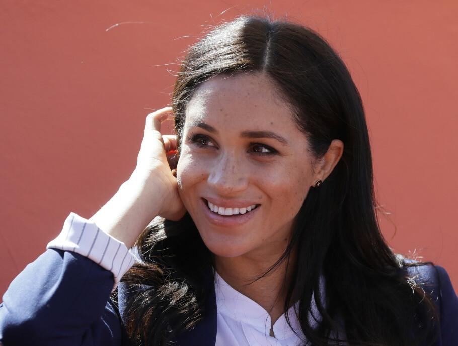 GRAVID: Nå er det ikke lenge før hertuginne Meghan skal føde sitt første barn. Foto: Scanpix