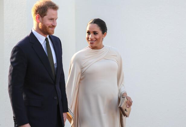 SNART FORELDRE: Prins Harry og hertuginne Meghan. Foto: Scanpix