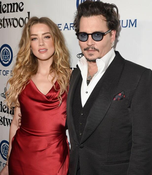 TO SIDER AV SAKEN: Amber Heard separerte seg fra Johnny Depp i 2016 og påsto senere at han hadde vært voldelig – tre år senere gikk Depp til motsøksmål og anklaget Amber for det samme. FOTO: Scanpix