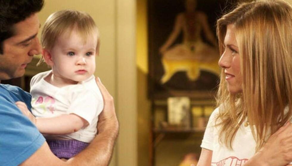 DEN GANG DA: Slik så Cali og Noelle Sheldon ut da vi først ble kjent med dem som Rachel og Ross' datter i «Friends». FOTO: NBC