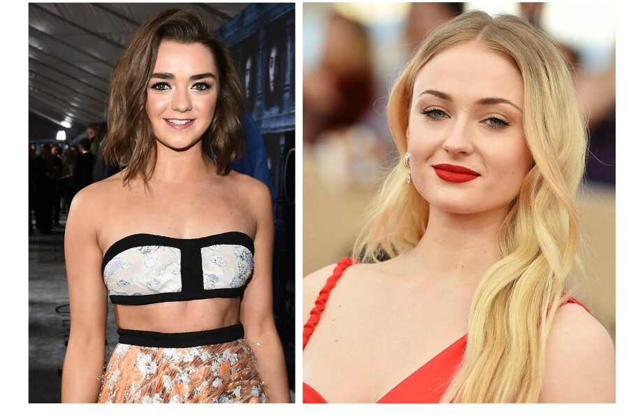 GAME OF THRONES: Maisie Williams og Sophie Turner (t.h.) har utviklet et svært nært vennskap etter å ha spilt i åtte sesonger av den populære HBO-serien Game of Thrones. FOTO: NTB Scanpix