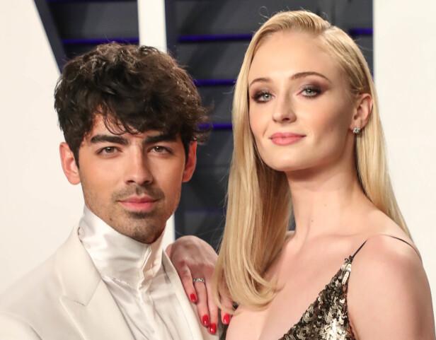 <strong>FORLOVET:</strong> Sophie Turner og popstjernen Joe Jonas forlovet seg høsten 2017. Bryllupet står sommeren 2019. FOTO: NTB Scanpix