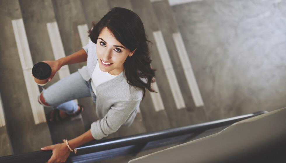 TRENE UTEN Å TRENE: Å ta trappen teler med i det store bildet for å få opp aktivitetsnivået, og dermed redusere risikoen for blant annet diabetes og herte- og karsykdommer. FOTO: NTB Scanpix