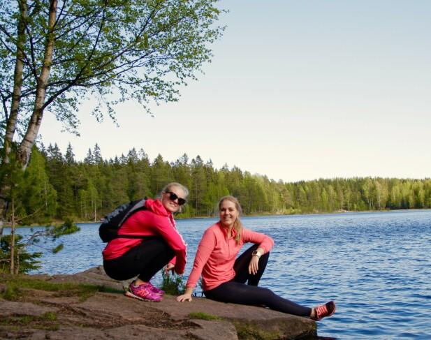 TEST: Ifølge InBody-testen, var det anbefalt at både søsteren min, Thea, og jeg skulle gå ned 10 kilo... FOTO: Thea Fahle Mausethagen