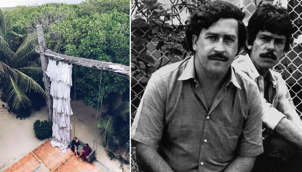 PABLO ESCOBAR: Verdens mest omtalte narkosmugler, Pablo Escobar, hadde feriested i Tulum i Mexico. KK-journalistene Mina Knudsen og Malini Bjørnstad besøkte nylig stedet, som nå er blitt et luksushotell. FOTO: Privat/NTB scanpix