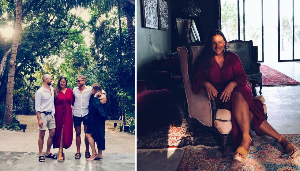 PÅ FERIE: Her er undertegnende på ferie i Tulum med venner. Her besøkte vi Casa Malca. FOTO: Privat