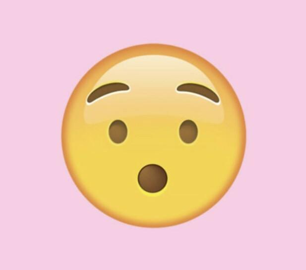 STILLE: For oss ser dette ut som et sjokkert ansikt, men det viser seg at den skal symbolisere å være stille. FOTO: Unicode