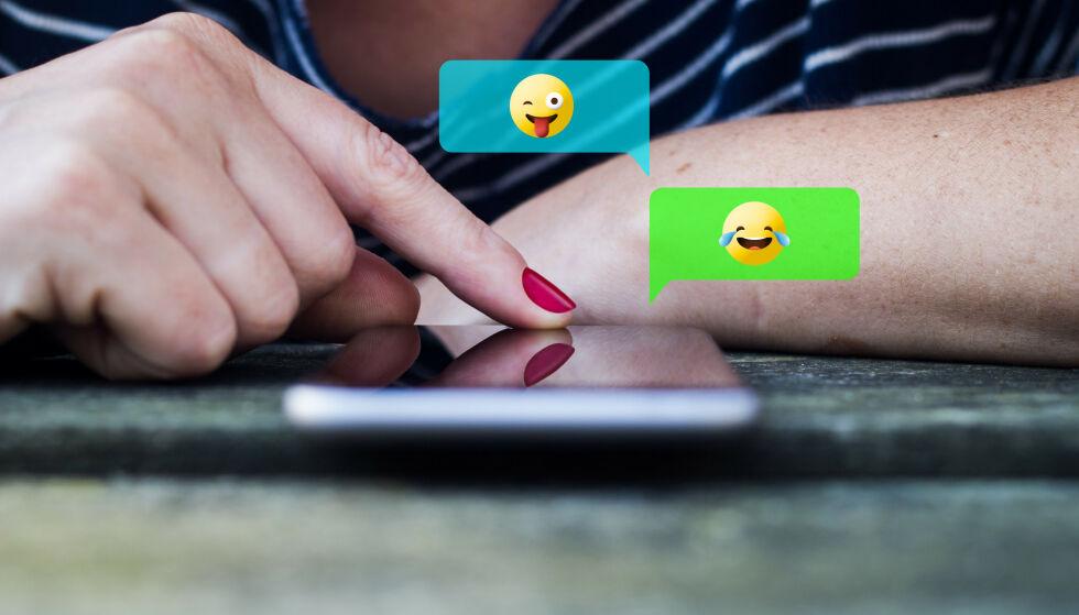 ENORMT UTVALG: I dag har vi tusenvis av forskjellige uttrykksikoner å velge mellom på telefonen, men vet du egentlig hva de betyr? FOTO: NTB Scanpix