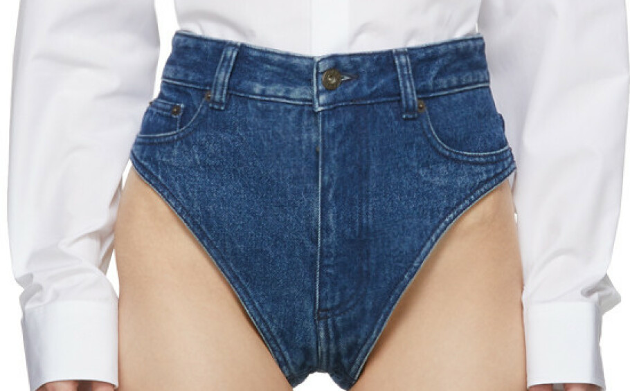 JANTIES: Det er navnet på dette plagget som er en kombinasjon av jeans og truse. Foto: Y/Project