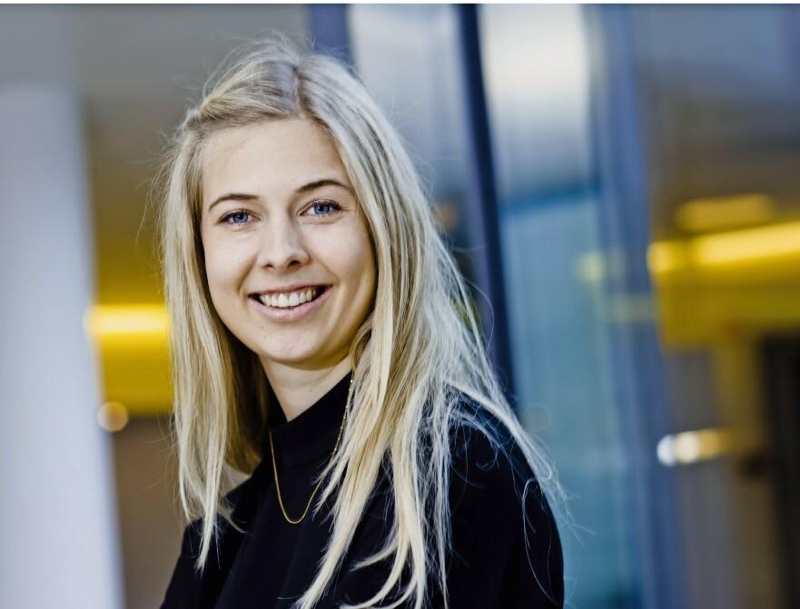 ANNA-SOPHIE HARTVIGSEN: 24-åringen begynte å kjøpe aksjer da hun var 19 år gammel. Foto: Claus Boesen