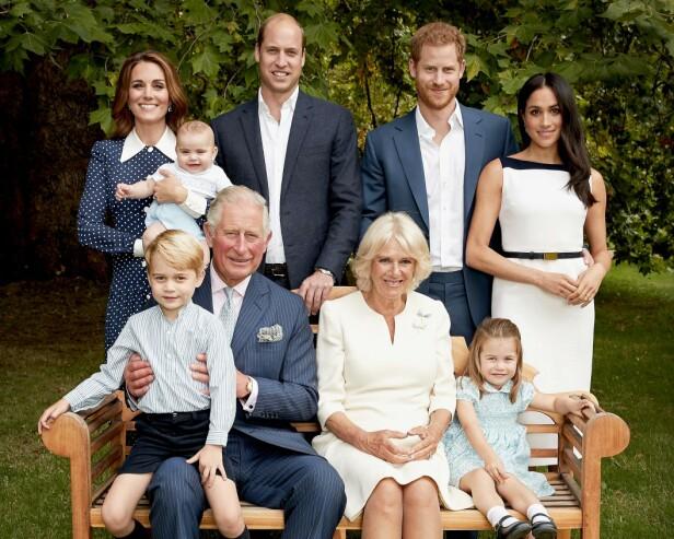 FAMILIEFORØKELSE: Snart kan det britiske kongehuset juble over å få enda en liten prins eller prinsesse i familien. Dette bildet ble tatt i anledning prins Charles' 70-årsdag i november 2018. FOTO: NTB Scanpix