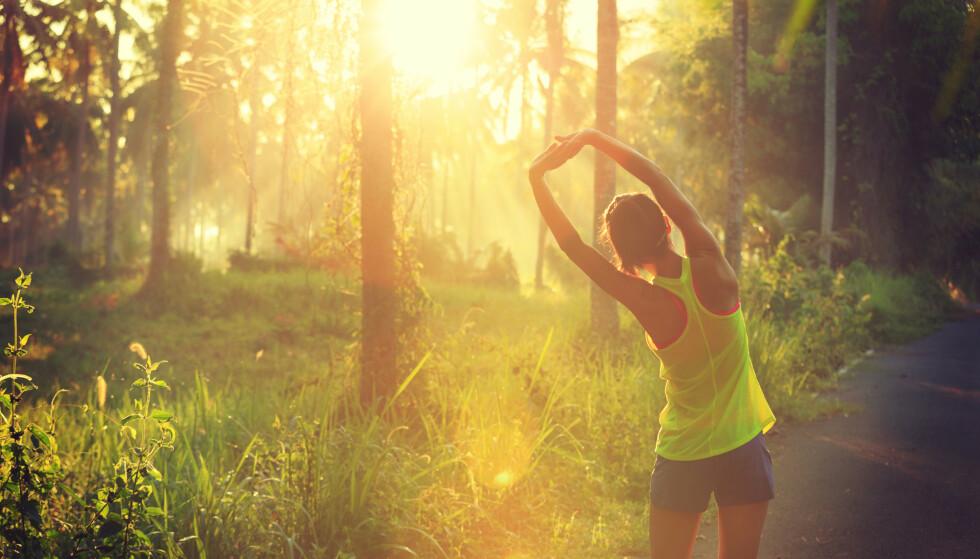 UTELØPING: Å løpe ute åpner for naturopplevelser og trivsel. FOTO: Scanpix