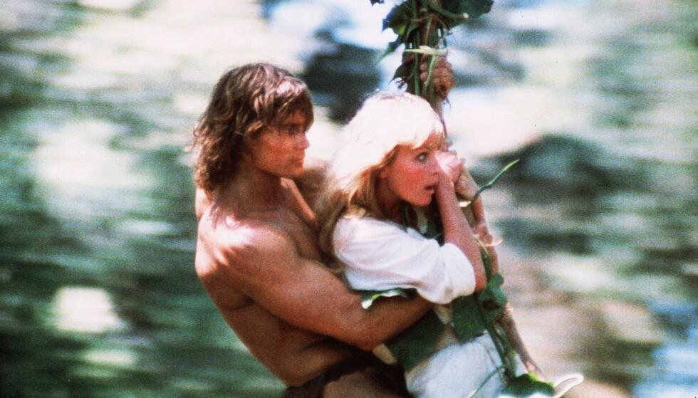 RASK SUKSESS: Det gikk unna i «Tarzan», selv om fokuset nok var mer på Bo Derek enn på Tarzan i filmen. FOTO: NTBScanpix