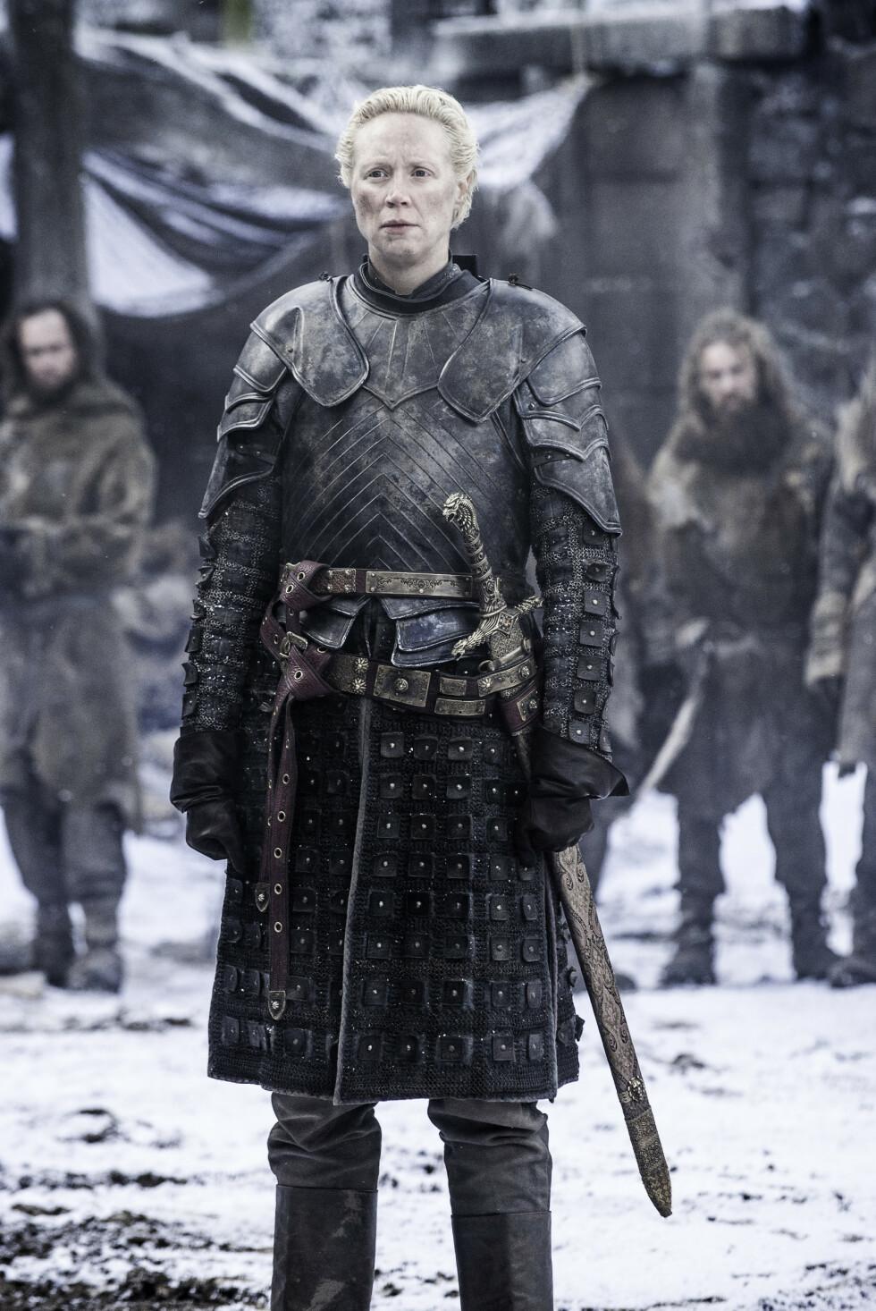 <strong>HELTINNE:</strong> I Game of Thrones spiller Gwendoline Christie den standhaftige krigeren Brienne of Tarth. FOTO: HBO