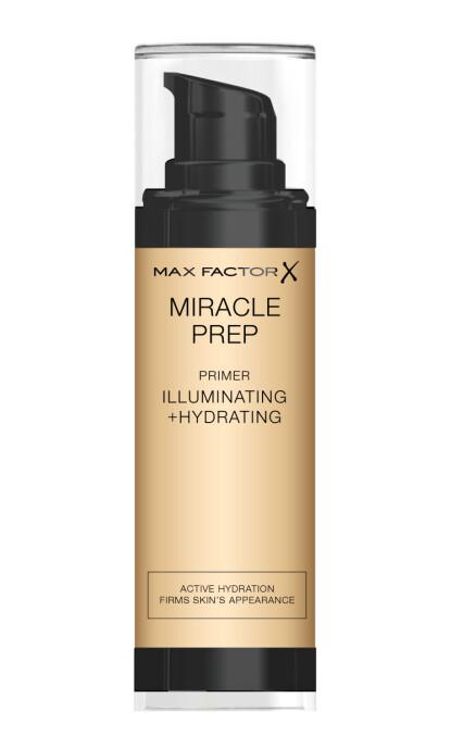 Miracle Prep Illuminating & Hydrating Primer: Primer for tørre områder.